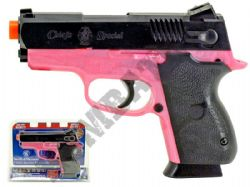 Smith and Wesson CS45 Airsoft BB Gun Black and Pink Official Replica